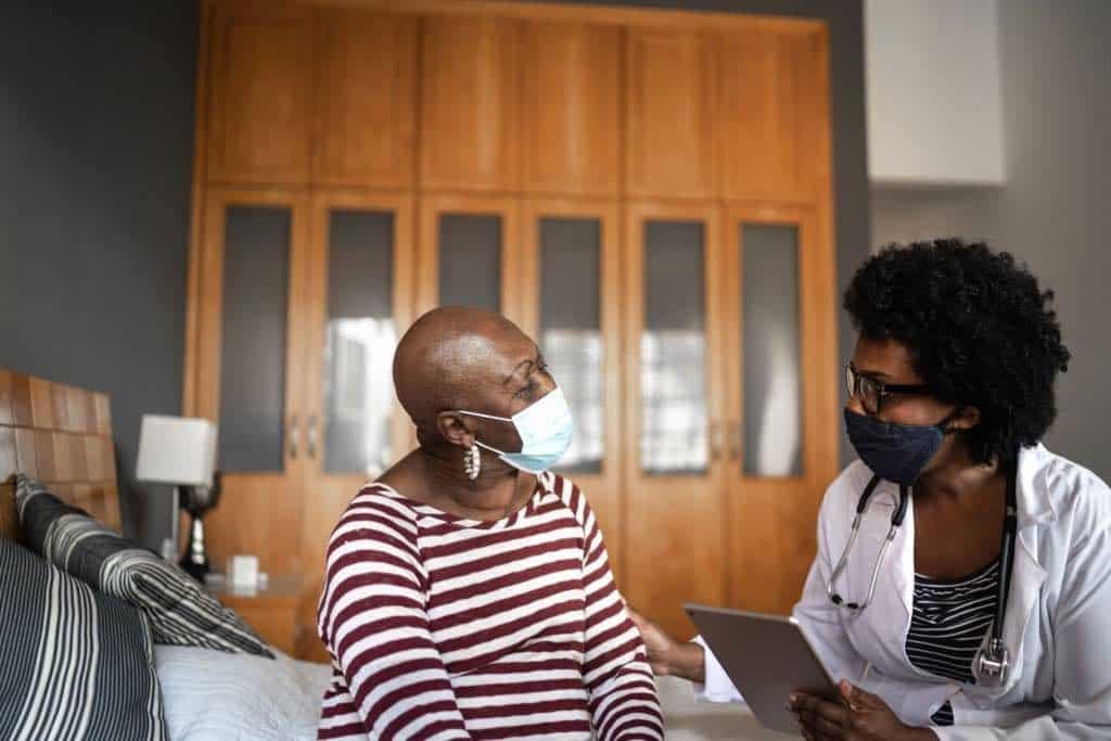 female geriatric nurse planning tulsa los angeles
